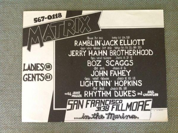 Ramblin Jack Elliott concert poster 1970