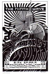 Ninth Wave postcard (B&W) Rick Griffin
