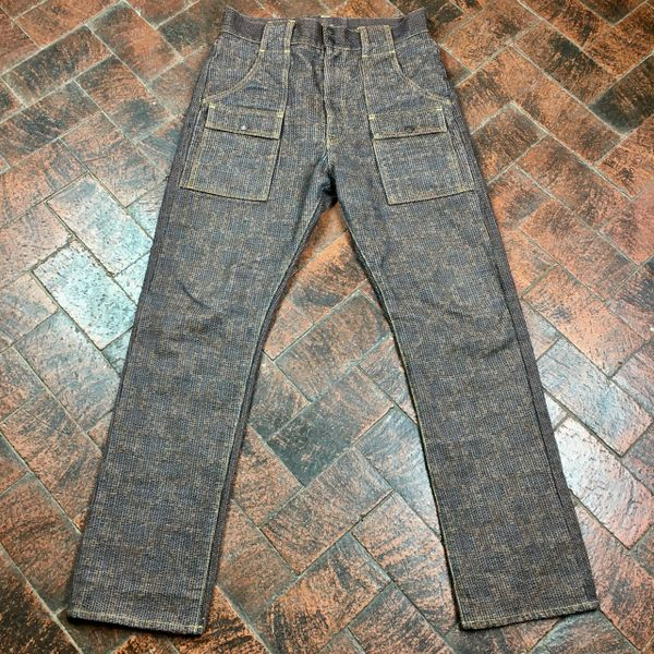 "SOLD 33"" BRAND NEW KAKISHIBU CENTURY DENIM CARGO POCKET JEANS BY KAPITAL OF JAPAN"