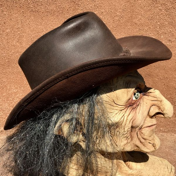 SOLD LEATHER AUSTRALIAN OUTBACK COWBOY HAT
