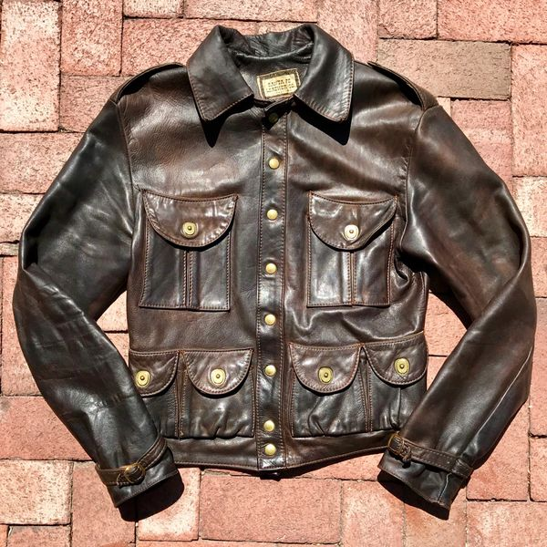 SOLD 1960s LADIES SANTA FE LEATHER CO. CARGO JACKET