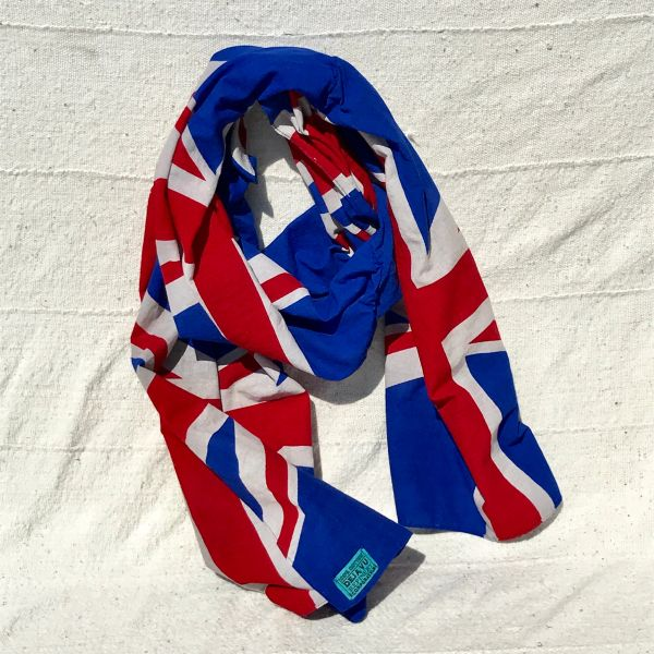 UK UNITED KINGDOM BRITAIN ENGLAND FLAG COTTON BANDANNA SCARF HANDSEWN