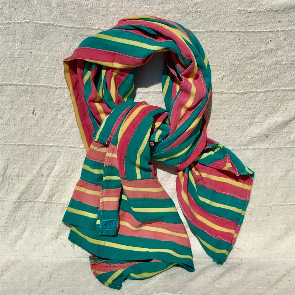 100 YEAR OLD PINK GREEN HAND-DYED HANDWOVEN AFRICAN KOBA CLOTH SCARF STOLE BLANKET SHAWL