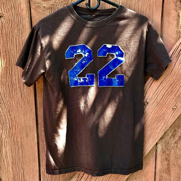 SALVAGED VINTAGE DARK ESPRESSO BROWN 22 DOUBLE SIDED TSHIRT