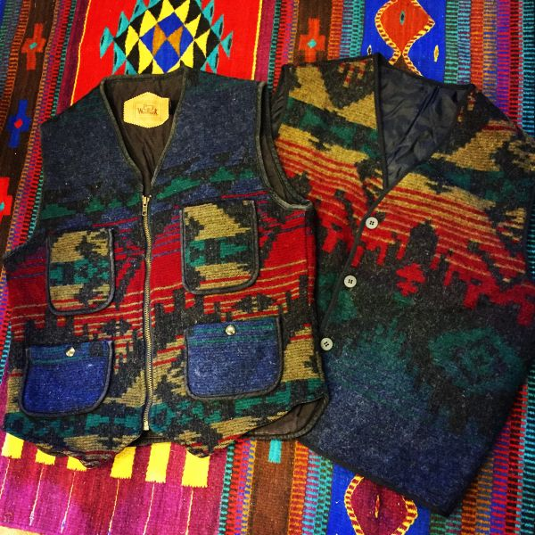 WOOLRICH VINTAGE WORKWEAR INDIAN BLANKET VEST