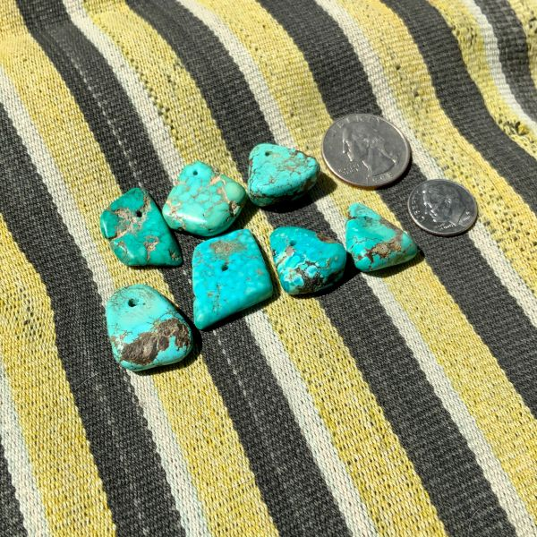 SOLD WHOLESALE ORDER OF CUSTOM REQUESTED ANTIQUE TURQUOISE TAB EAR BOBS