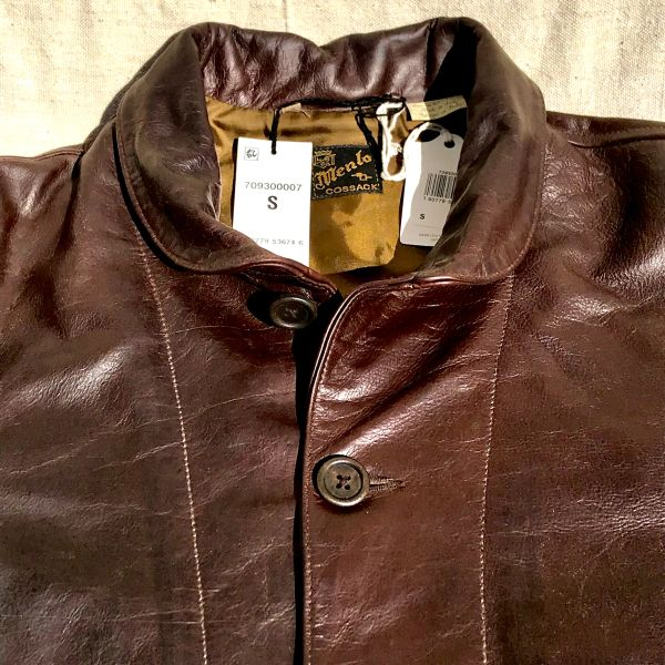 ATELIER DISTRESSED & OILED & UPGRADED WOODEN BUTTONS MENLO LVC LEVIS EINSTEIN LEATHER COSSACK JACKET