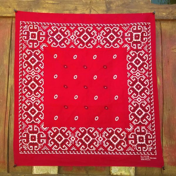SOLD RED VINTAGE BANDANNA # 1