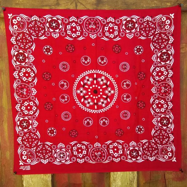 SOLD RED VINTAGE BANDANNA # 2