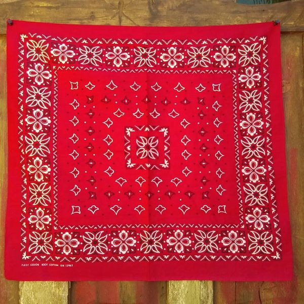 SOLD RED VINTAGE BANDANNA # 8