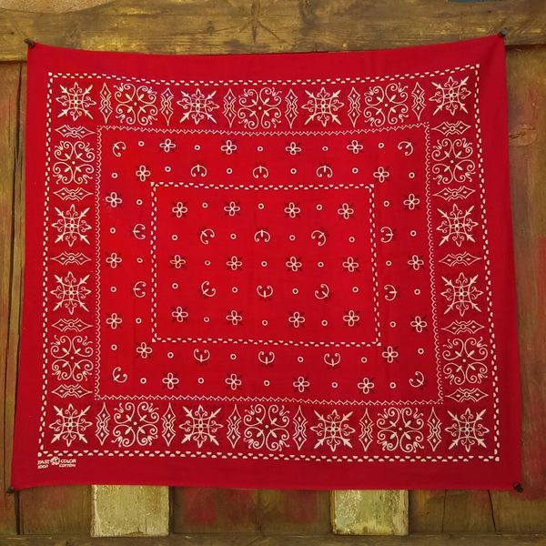 SOLD RED VINTAGE BANDANNA # 9