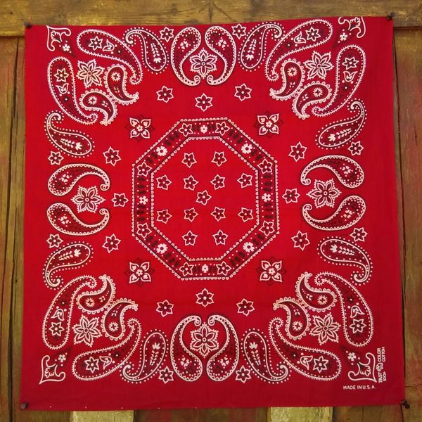 SOLD RED VINTAGE BANDANNA # 11