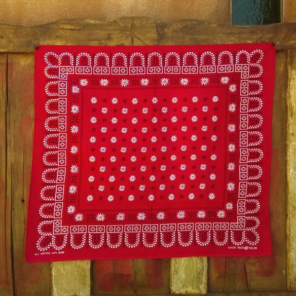 SOLD RED VINTAGE BANDANNA # 13