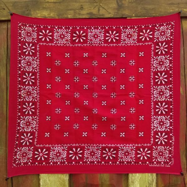 SOLD RED VINTAGE BANDANNA # 14
