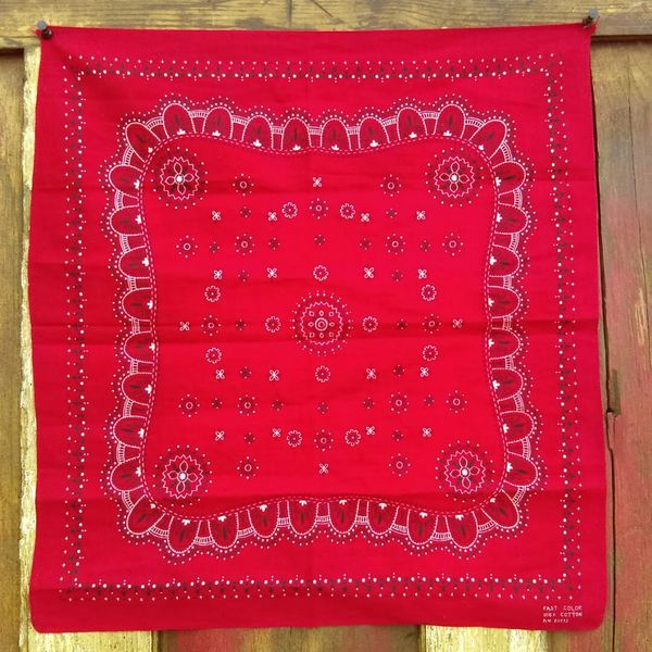 SOLD RED VINTAGE BANDANNA # 15