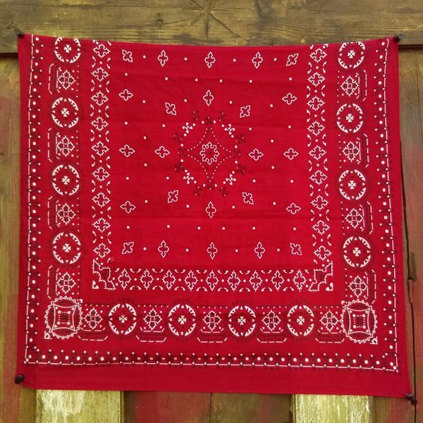 SOLD RED VINTAGE BANDANNA # 16