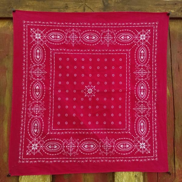 SOLD RED VINTAGE BANDANNA # 19