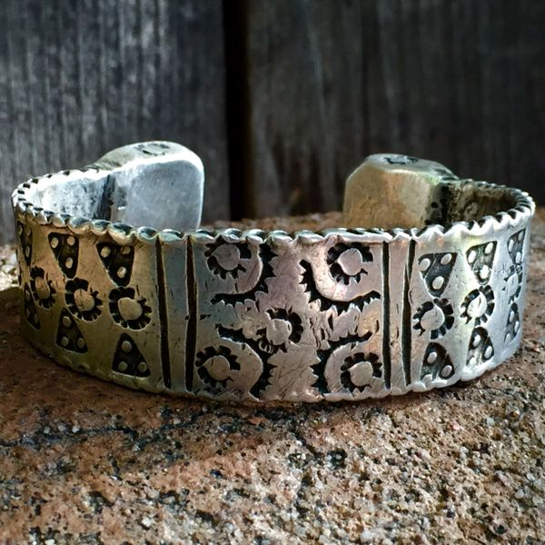 SOLD 1850s ETHIOPIAN INGOT SILVER NOMAD TRIBAL CURRENCY CUFF