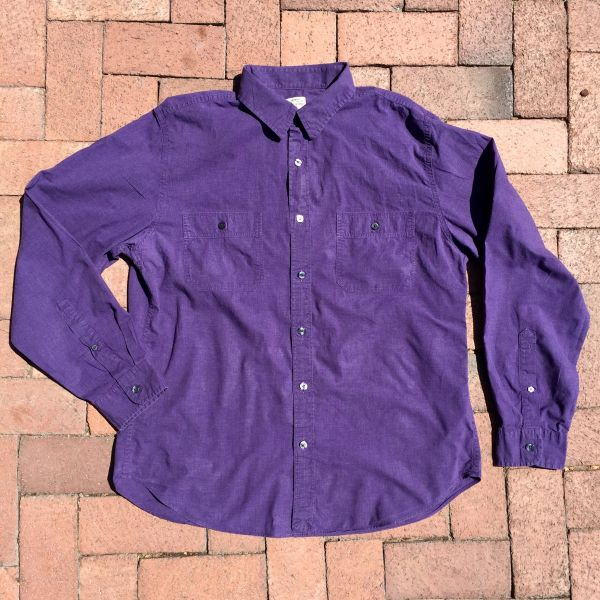 1980s GRAPE PURPLE CHAMBRAY WORK SHIRT
