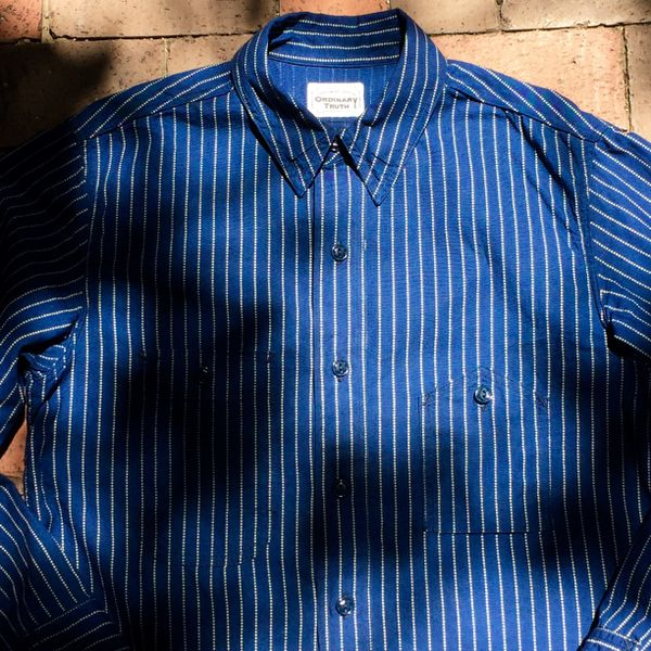 SOLD 1920s AMERICAN REPRODUCTION JAPAN MADE CHAMBRAY WABASH WORK SHIRT