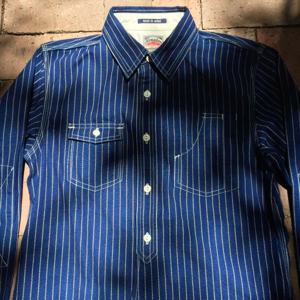 1920s AMERICAN REPRODUCTION JAPANESE MADE WABASH CHAMBRAY WORK SHIRT