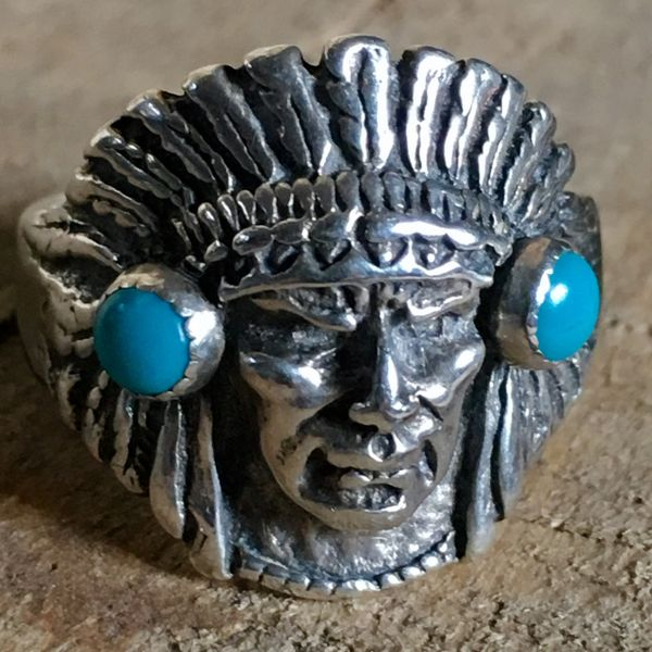 SOLD 1950s INDIAN CHIEF HEAD RING
