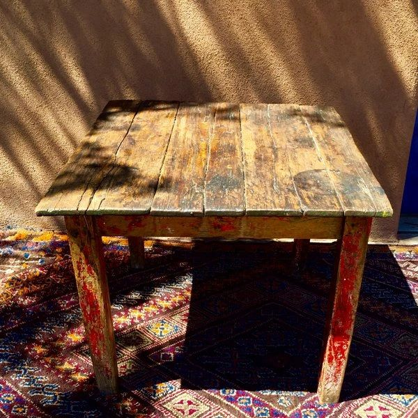 SOLD 1880s RUSTIC COUNTRY FARM HARVEST PINE TABLE