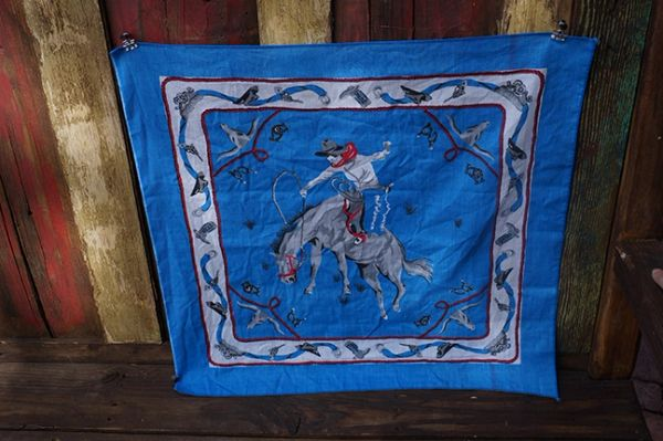 SOLD RODEO COWBOY BANDANNA
