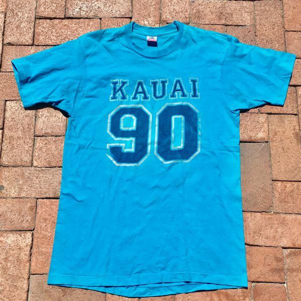 SOLD 1980s KUAI TURQUOISE TSHIRT