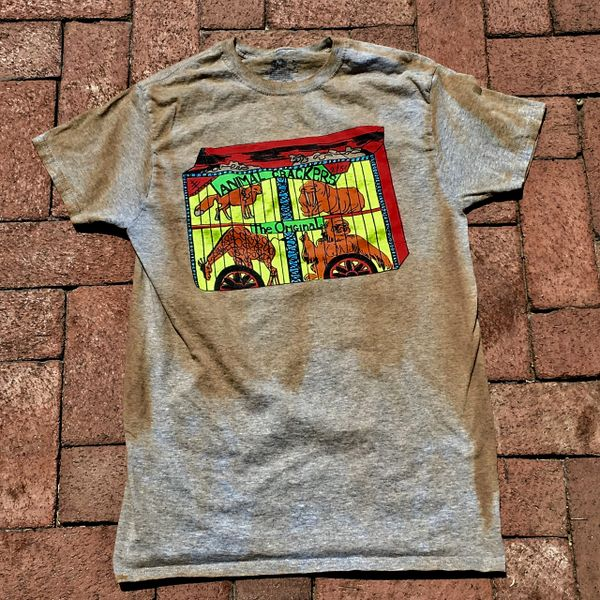 SOLD 1970s SMALL ANIMAL CRACKERS GREY AGED BUT NEW COTTON TSHIRT