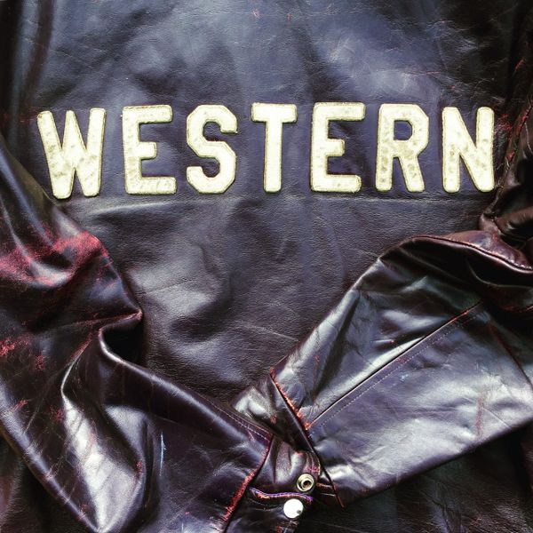 SOLD 1970s EGGPLANT PURPLE DISTRESSED VARSITY LEATHER JACKET WESTERN