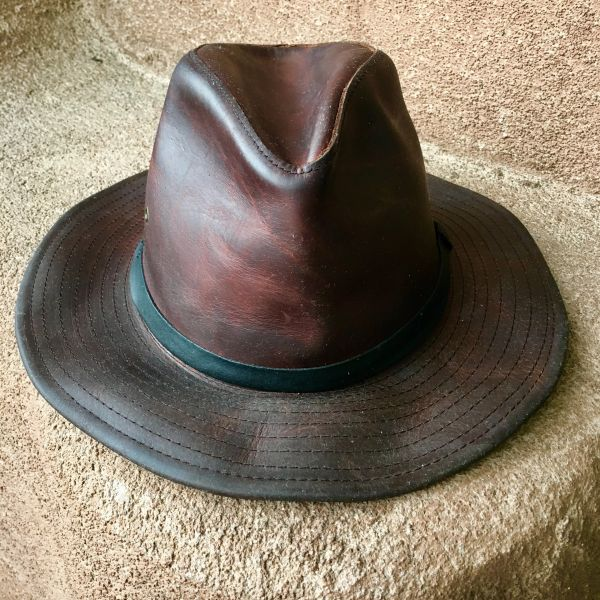 SOLD LEATHER FEDORA