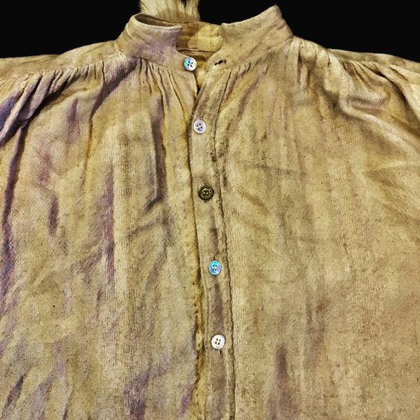 SOLD ANTIQUE HANDSPUN, HANDWOVEN PIRATE PEASANT SLAVE SHIRT OF UNKNOWN AGE & ORIGIN