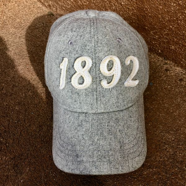 1892 LIGHT GREY WOOL BLEND ABERCROMBIE & FITCH BASEBALL CAP