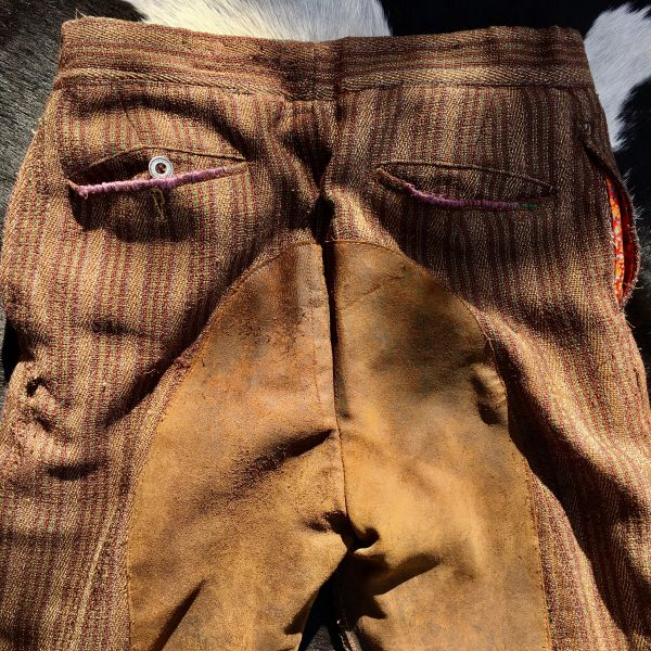 SOLD REPAIRED & COTTON LINED SILENT FILM COWBOY WARDROBE PANTS