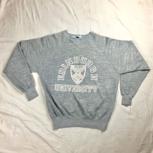 1970s 100% COTTON EDINBURGH UNIVERSITY SWEATSHIRT L-XL