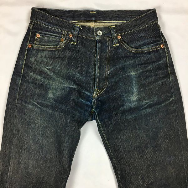 "IRONHEART 21oz DENIM DISTRESSED JEANS 30"" WAIST 34"" LONG"