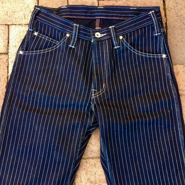 "SOLD IRON HEART INDIGO WABASH DENIM CARPENTER JEANS 31"" WAIST 27"" LONG"