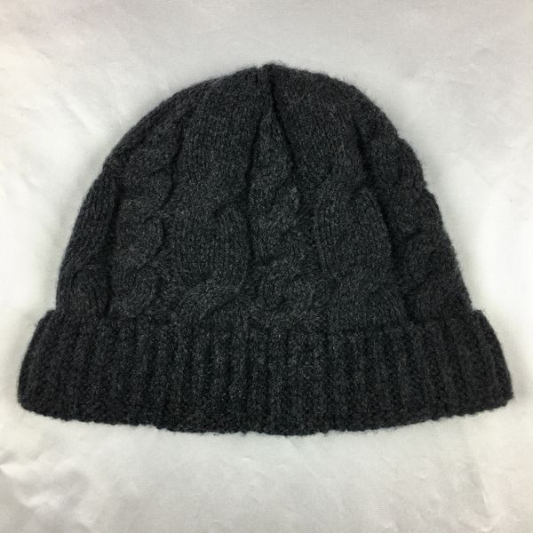 SOLD 100 % BLACK CABLE KNIT BEANIE CAP HAT