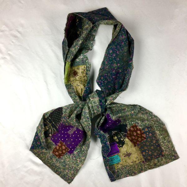 SOLD FILTHY FLORAL SCARF: COWBOY'S BORDELLO BOUDOIR REMNANTS OF ROMPS