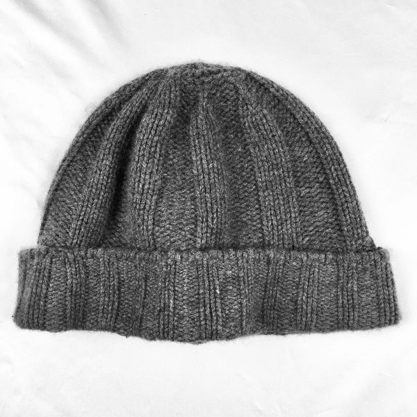 SOLD 100% CASHMERE RIBBED KNIT BEANIE CAP HAT MADE IN JAPAN BY BEAMS OUTFITTERS