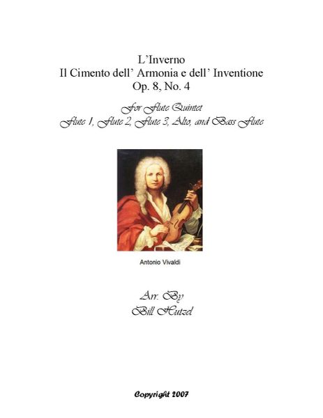 L'Inverno (Winter) Concerto from The Four Seasons by Vivaldi for Flute Ensemble Arr. by Bill Hutzel