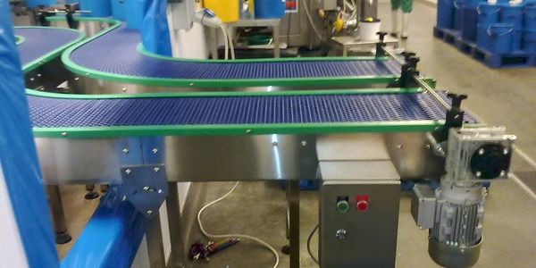 modular belt stainless steel food grade conveyor