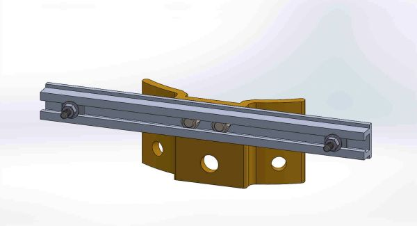 "PBPNW-12U-00-1/4----Pole Plate with 12"" Channel, and 1/4"" Box Mounting Hdwe."