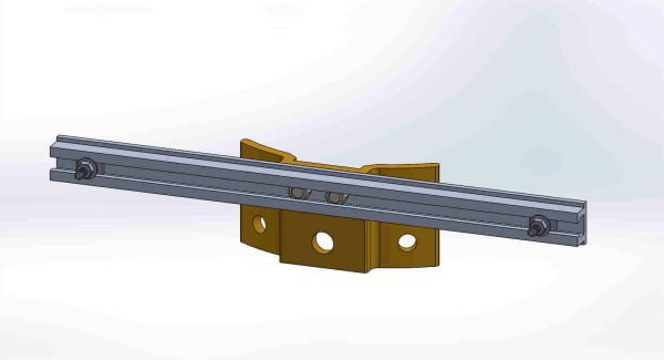 "PBPNW-16U-00-1/4----Pole Plate with 16"" Channel, and 1/4"" Box Mounting Hdwe."