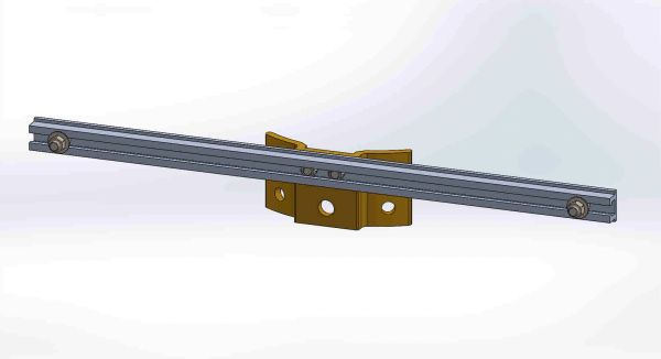 "PBPNW-24U-00----Pole Plate with 24"" Channel, and 3/8"" Box Mounting Hdwe."