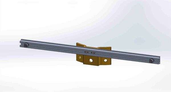 "PBPNW-24U-00-5/16 ---- Pole Plate with 24"" Channel, and 5/16"" Box Mounting Hdwe."