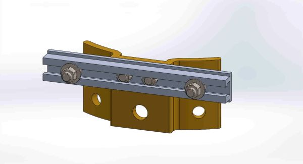 "PBPNW-8U-00----Pole Plate with 8"" Channel, and 3/8"" Box Mounting Hdwe."