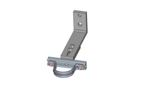 """NW10A-6-2.5X----Mounts a 2.5"""" conduit. Adjusts from 8 - 10 inches off the pole."""