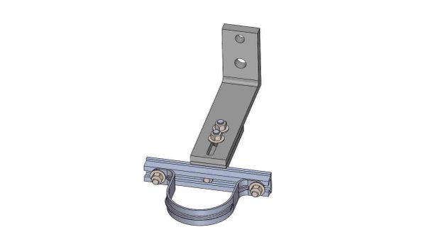 """NW10A-7-3X----Mounts a 3"""" conduit. Adjusts from 8 - 10 inches off the pole."""